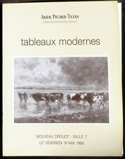 Catalogue Ader Picard Tajan Tableaux modernes mai 1989 NM