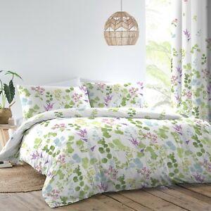 Dreams & Drapes Renee Floral EasyCare Reversible Duvet Cover Bedroom Range Multi