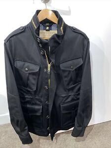 Burberry Black Jacket Mens Size Large