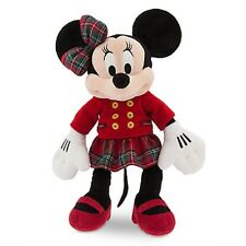 """MINNIE MOUSE HOLIDAY PLUSH CHRISTMAS """"DISNEY STORE 2016"""" EMBROIDERY ON FOOT NWT"""