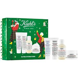 NIB Kiehl's Ultra Hydrators Holiday Gift Set Facial Cream Cleanser Lotion 4pcs