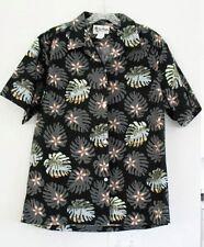 Howie Mens Black Hawaiian Monstera Short Sleeve Aloha Shirt Sz M - NWOT