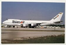 Tower Air Boeing 747-212B postcard