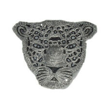 Panther Sequins Embroidered Sew on Patches For Clothing Sewing Animals Applique