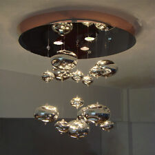 Chrome Glass Bubbles Living Room Ceiling Pendant Lamp Stair Chandelier Lights
