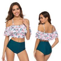 Women Push Up Padded Bra Bikini Set High Waist Bathing Suit Swimwear Swimsuit US