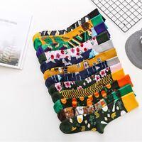 Vintage Unisex Mens Women Cotton Socks Funny Art Painting Novelty Hip Hop Socks
