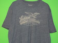 Lucky Brand Mens Size XXL / 2XL Los Angeles CA Navy Blue Crewneck T Shirt