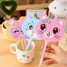 2pcs Kawaii fan plastic ball point pen cartoon animal ball pens stationeryBB