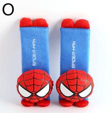2Pcs Cute Spiderman Automotive Interior Car Seat Belt Cover Shoulder Cover