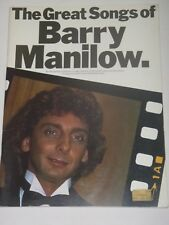 The Great Songs Of Barry Manilow Songbook  - Piano, Vocal, Guitar Boxes