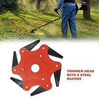 6Steel Blades Razors 65Mn Lawn-Mower Grass Eater-Trimmer-Head Brush Cutter Tools