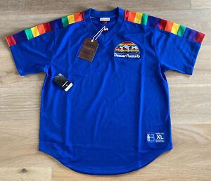 *RARE* Mitchell & Ness HWC Denver Nuggets Rainbow Shooting Shirt Jersey Size XL