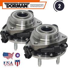 Dorman Front Wheel Hub Bearing w/ABS GMC Chevrolet Buick Isuzu Trucks set 513188