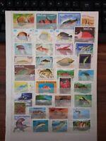 Fische Timbres Briefmarken Sellos Stamps