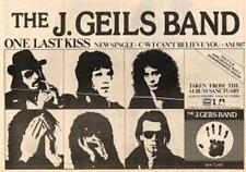 J. Geils Band One Last Kiss UK '45 advert 1979