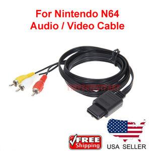 N64 SNES Gamecube 6FT RCA AV TV Audio Video Stereo Cable Cord For Nintendo 64