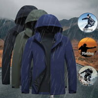 Men's Jacket Waterproof Tactical Zipper Coat Soft Shell Outdoor Jackets Outwear