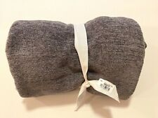 NWT Pottery Barn TRISTA CHENILLE FRINGE THROW Charcoal 50 x 60 in