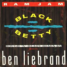 "RAM JAM black betty (ben liebrand remix) 6554307 uk epic 1990 7"" PS EX/EX"