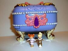 Vintage Polly Pocket 1997 VERY RARE play set Jewel case w/ 2 original Dolls RARE