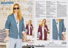 """Stylecraft 9384 mistica Giacca/Cappotto Originale Lavoro A Maglia Pattern - 32/34"""" - 48/50"""""""