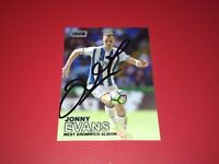 WBA. WEST BROM. WEST BROMWICH ALBION. HAND SIGNED TRADING CARD. JONNY EVANS.