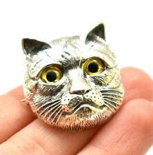 Adorable Cat Kitten Fine Sterling Silver 925 Pendant 10g Zz244