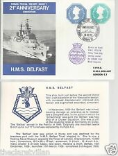 Forces Postal History HMS Belfast 1973 HMS Reclaim Diving Trials Ship
