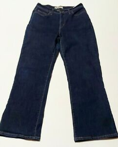 Levis 512 Women's  Perfectly Slimming  Bootcut Jeans Size 10S 30X30 Dark Wash