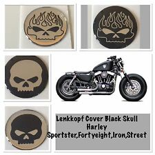 Casque Cover Black Skull Harley Sportster, FortyEight, Iron, Street,