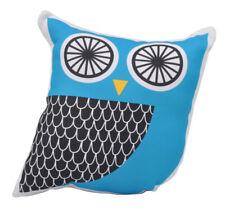 NEW Kids Childrens Owl Soft Stuffed Cushion Black and Blue Handmade in Australia
