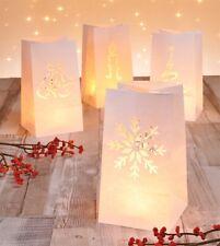 8 Lichtertüten Tütenwindlich Windlicht Teelicht Weihnachten Lichttüten Luminaria