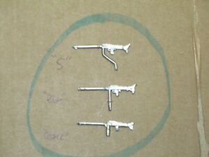 Bundle Of 3 Machine Guns MG Different Metal Brut. Char German solido Military