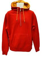 New NIKE Sportswear NSW Vintage AW 77 Half Zipped Cotton Hoodie Red M