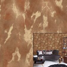 Vymura Cowhide Ayreshire Tan Brown Luxury Embellished Feature Wallpaper