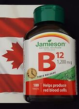 JAMIESON VITAMIN B12 1200 MCG 180 TIMED RELEASE TABLETS ALL NATURAL ENERGY