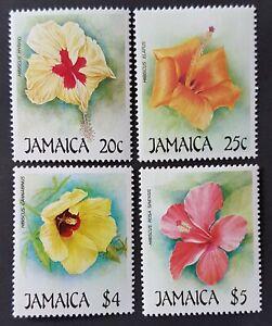 Jamaica - 1987 - Sc 675 - 78 - Flowers MNH cv=US$6.25