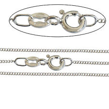 """925 Silver Plated Fine Italian 1.4mm CURB Chain Necklace 14 18 20 22 24 26 40"""""""