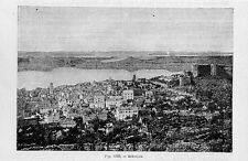 Stampa antica SIBENIK Sebenico Dalmazia Croazia 1889 Old Print starinski ispis