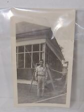 Black and White Photo of World War II WWII Soldier Staff Sgt 1944