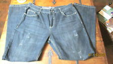 DELF TRADING IMPERIOUS JEANS MENS 38 X 32 DISTRESSED EUC