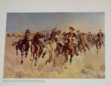 "Vtg 1976 Art Print Frederic Remington The Old West ** 9"" x 11"" SEE VARIETY"