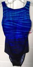 Tummy Slimmer Bathing Suit Women's Blue Size 12 New Retail $86