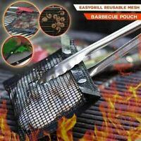 BBQ Sacchetto di Barbecue Antiaderente Griglia Custodia Cesto Conchiglia Stuoia