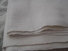 French Homespun Hemp table cloth woven internal band of stripes 112x154cms