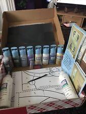 Plaid Gallery Glass Window Colour Paint Bundle Lot + Liquid Lead #3
