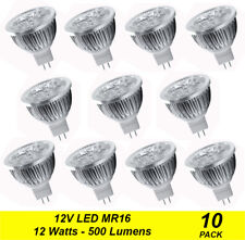 10 x Quality LED Downlight Globes Bulbs Lamps 12W MR16 12V AC/DC Cool Daylight