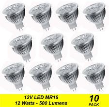 10 x Quality LED Downlight Globes Bulbs Lamps 12W MR16 12V AC / DC Cool Daylight