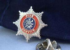 Masonic Lodge British UK Fireman Fire Service First Responder Lapel Pin & Pouch